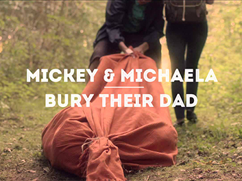 Mickey & Michaela Bury Their Dad